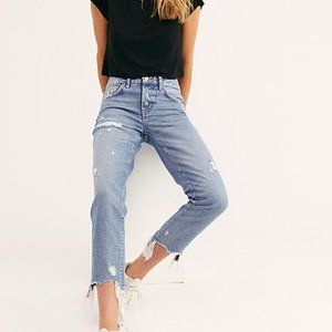 We the Free People Good Time Relaxed Skinny Jeans